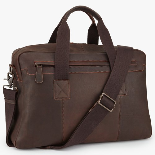 John Lewis Toronto Leather Holdall Brown AYKtcO7