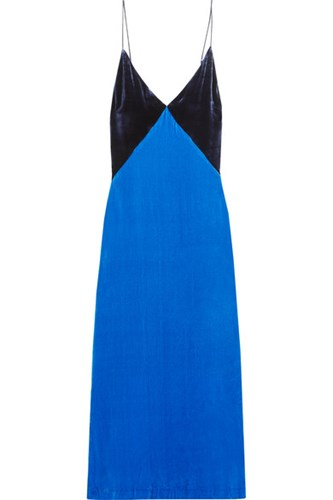 Blue Dress Slip Bright Dion Velvet Usd Lee qwTxHXZR