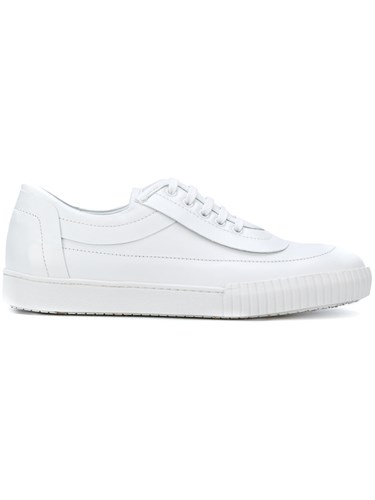 Marni Lace Up Sneakers Leather Rubber White y7DPOEPmP
