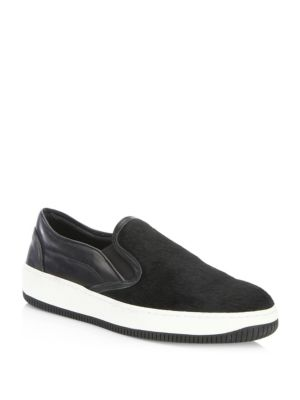 Fifth Sneakers Avenue Black Hair Pony Saks Slip On SHZW7qZUp