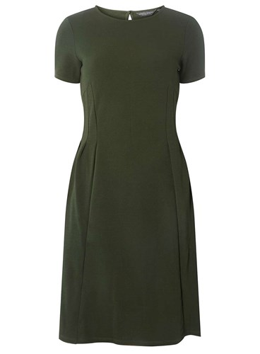Perkins Flare And Dorothy Crepe Green Fit Dress Tall 4HSHpcv