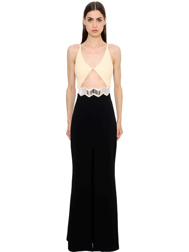 David Koma Cutout Cady Gown With Mirrors AT3Oyj