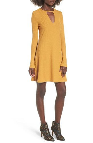 Lira Clothing Women's Maven Thermal Dress Mustard tNsTs
