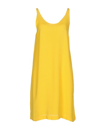 Sonia De Nisco Short Dresses Yellow We8QN4Nrq0