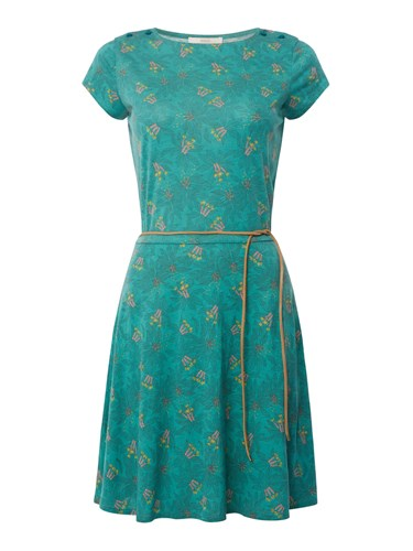 Skater Salome Dress Belted Sessun Green 1H4qwz