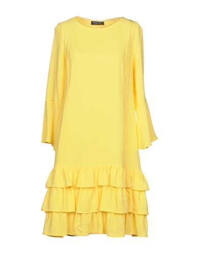 Twin-Set Simona Barbieri Short Dresses Yellow LTRyEzpwqV