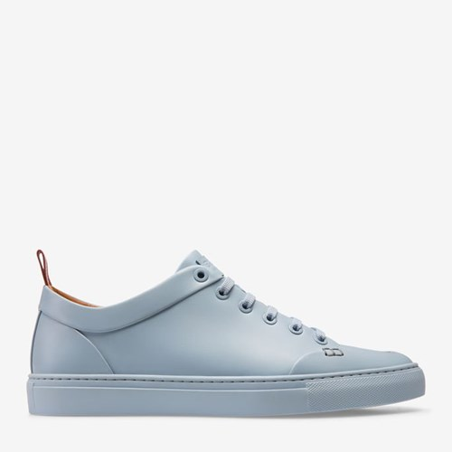 Bally Men's Calf Leather Low Top Trainer In Ocean Spray Blue IxTS8T