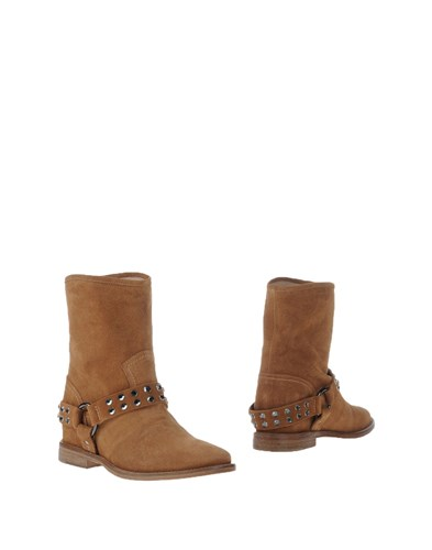 Twin-Set Jeans Ankle Boots Brown Kd1D8uv