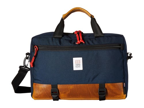 Topo Designs Commuter Briefcase Navy Brown Leather Bags 5wyW6oK7