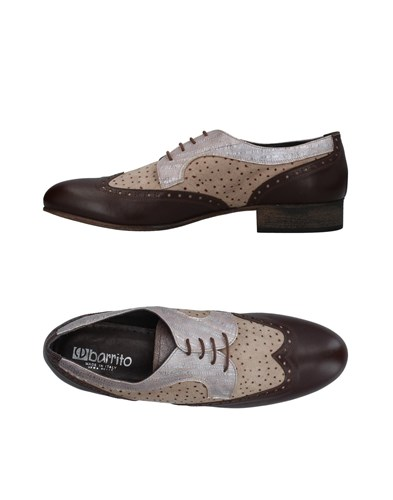 Ebarrito Lace Up Shoes Dark Brown Nnwly