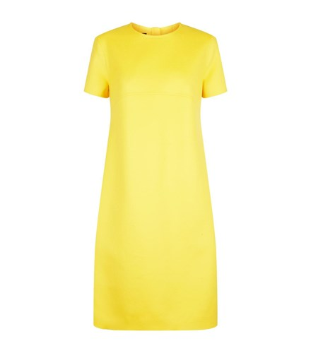 Escada Wool And Cashmere Dress Yellow 70gygWQ1