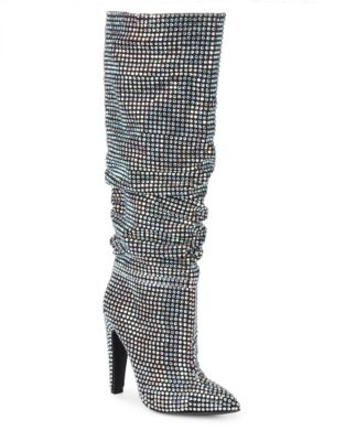 Rhinestone Madden High Crushing Embellished Steve Knee Boots FqOBSTn
