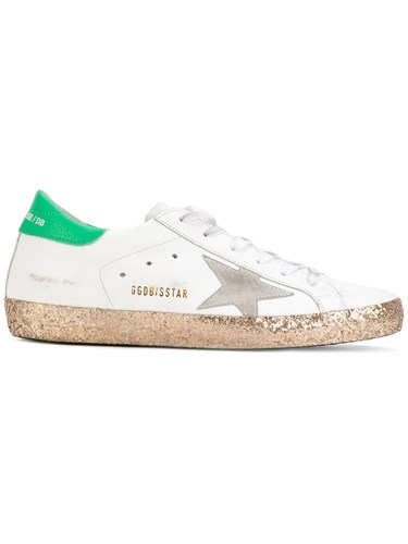 Golden Goose Deluxe Brand Super Star Sneakers Cotton Leather Rubber White HkxD1ZDdMD