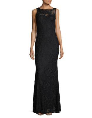 Karl Lagerfeld Sleek Lace Gown Black FqKwAfvePm