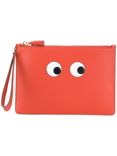 Eyes Zip Yellow Pouch Hindmarch Orange Anya And aUwpAH