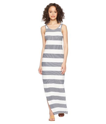Marshmallow Roxy Docker Stripes Gray Dress Maxi Dress Tuba Blue SIqZZf7xw