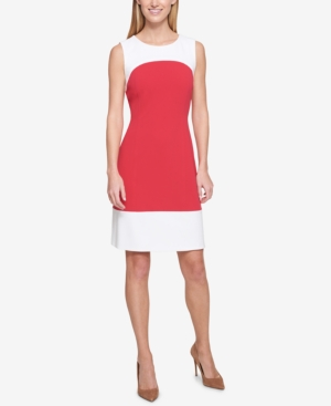 Tommy Hilfiger Colorblocked Dress Raspberry Ivory 9N1QQgG4KY