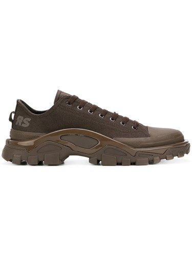 Raf Simons Adidas By Detroit Runner Low Top Sneakers Brown HjIfcOGMp