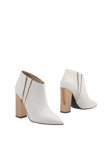 Pollini Ankle Boots Ivory ElzhPvO