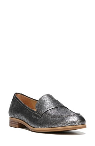 Naturalizer Women's Veronica Loafer Silver Leather nsYqsoRRZW