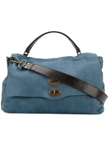 Zanellato Large Jones Tote Men Leather One Size Blue HQy7KPYWgY