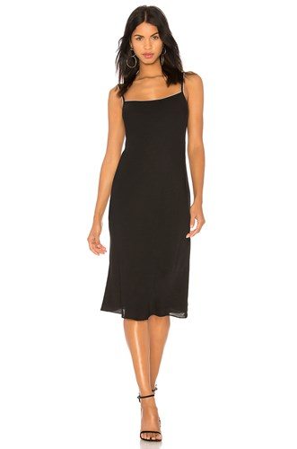 Theory Silk Combo Slip Dress Black And White QAyt1s8G