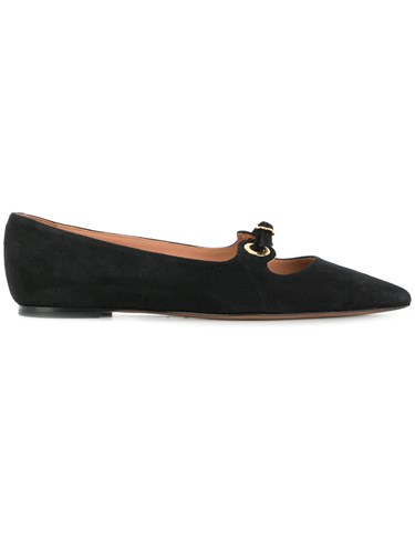 L'Autre Chose Buckle Detail Pointed Ballerina Shoes Black 7ZykZBl