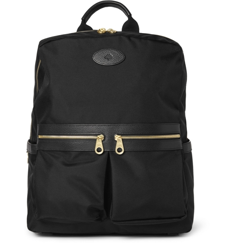 Mulberry Henry Leather Trimmed Nylon Backpack Black VjbiqflV