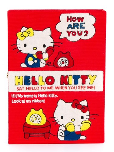Olympia Le-Tan Hello Kitty Book Clutch Bag Red dcE9l