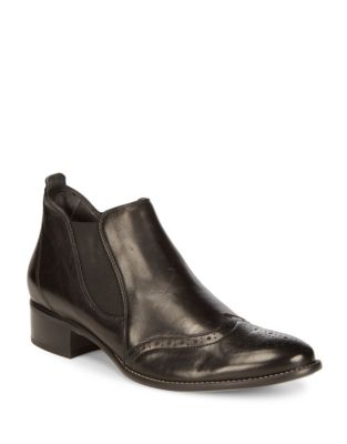 Paul Green Jay Leather Boots Black K37TvcQhoD