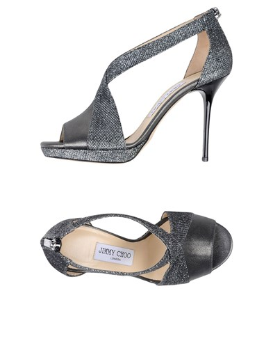 Jimmy Choo Grey Jimmy Steel Sandals Choo CwdXq1E1