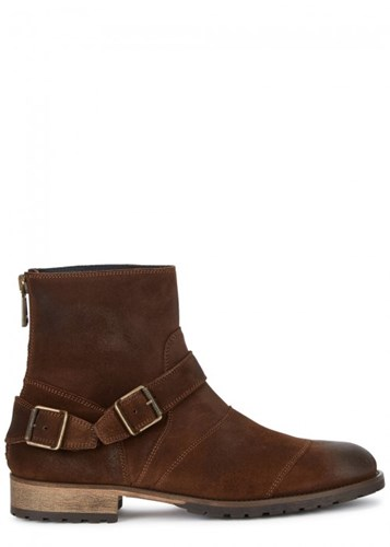Suede Ankle Belstaff Trialmaster Boots Brown Pw64f