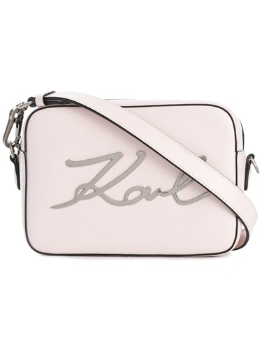 Karl Lagerfeld K Signature Camera Bag Pink And Purple Vc5oc41
