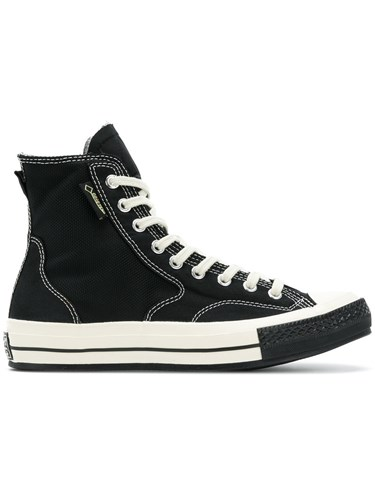 Converse Lace Up Hi Top Sneakers Cotton Rubber Black 7Noc0MT