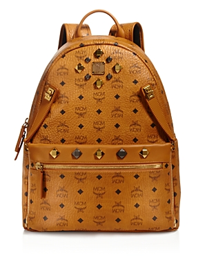 MCM Medium Dual Stark Backpack Cognac wJxLT