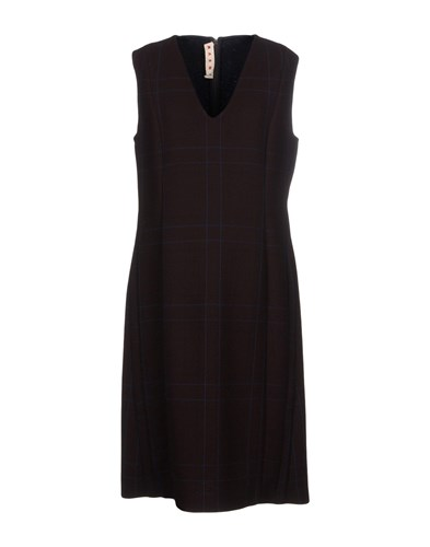 Marni Knee Length Dresses Cocoa rsUC6e