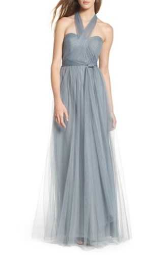Jenny Yoo Women's Annabelle Convertible Tulle Column Dress Mayan Blue fTO0jTWSee
