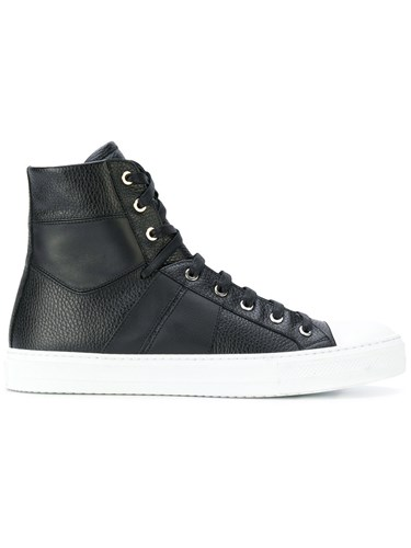 Amiri High Top Trainers Leather Rubber Black Cg2AeM05lm