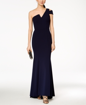 Shoulder One Betsy Adam Gown A amp; Line Night CwqzUwt7rx