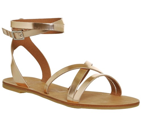 Office Stephan Strappy Ankle Sandals Rose Gold JSOYjI1YS