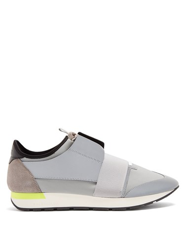 Balenciaga Race Runner Trainers Grey Multi VANuM8