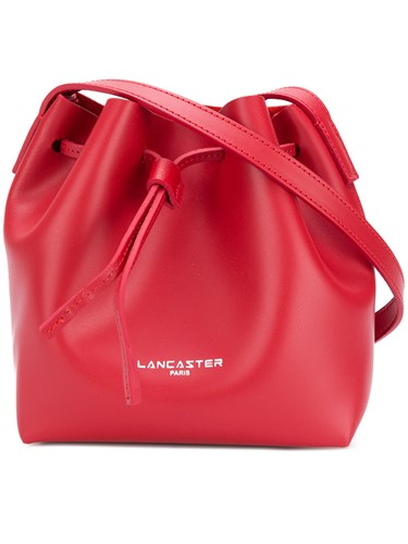 Lancaster Logo Bucket Shoulder Bag Red eIa755Wn