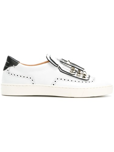 Santoni Fringed Loafers White pk7WQXTLFT