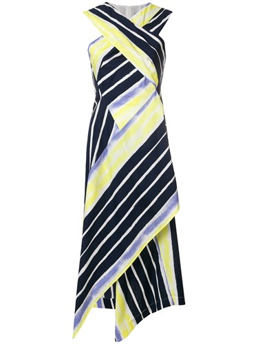 Sportmax Criss Cross Draped Dress Multicolour 1OglaP
