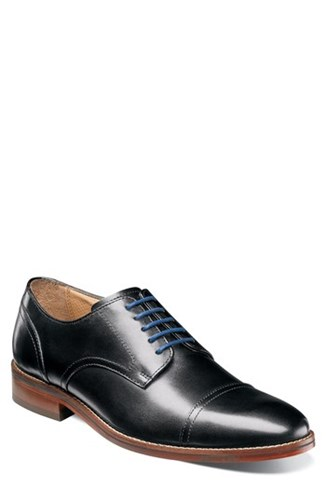 Florsheim Salerno Cap Toe Derby Black Leather oi9ARlYGNu