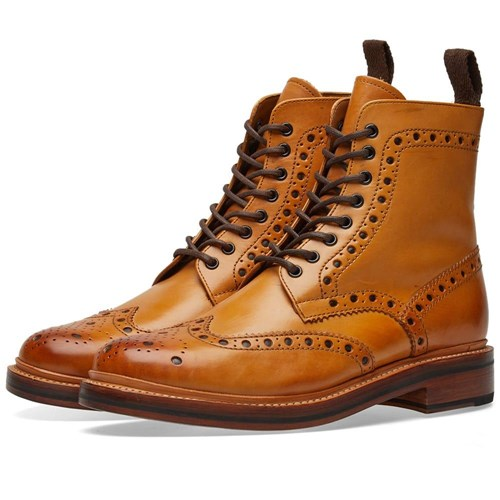 Grenson Fred Brogue Boot Brown WlM0rE8V