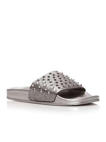 Moda in Pelle Orlan Flat Casual Sandals Pewter PM4hLo07qZ