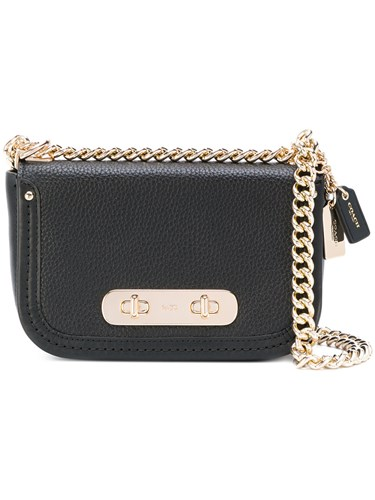 Coach Swagger 20 Bag Women Leather Metal Other One Size Black cXWE5gKj
