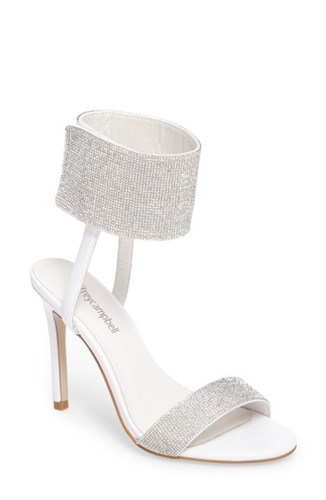 Jeffrey Campbell Women's Frost Ankle Cuff Sandal White Combo 5Bcf1NUD