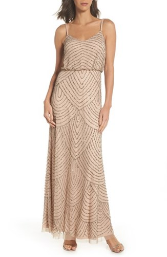 Adrianna Papell Embellished Blouson Gown YEOS7